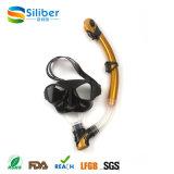 Silicone profissional da cor da forma máscara de vidro do mergulho do vário com câmara de ar