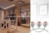 Supporto di candela domestico di lusso della colonna della decorazione, supporto di candela