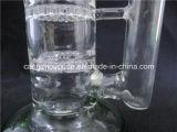 Pipes en verre créatrices de narguilés de l'eau d'arrivée de vert droit neuf de tube
