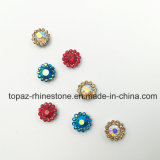 2017 Nova e qualidade superior 14mm Crystal Flower Claw definindo costurar sobre Strass Band (TP-14mm azul céu ab)
