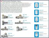 da válvula termostática reta do radiador da série de 15mm GB corpo de lustro (IDC-V10)