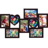 Multi рамка пластмассы сердца коллажа украшения Openning домашняя