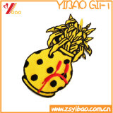 Zona su ordinazione del ricamo del fiore del contrassegno dei vestiti, distintivo tessuto (YB-HR-393)