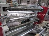 Hwasen rollo a rollo de plástico de la marca de corte longitudinal vertical máquina rebobinadora