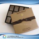 Caixa de empacotamento do presente do chocolate de /Candy/ da jóia do Valentim com fita (xc-fbc-011)