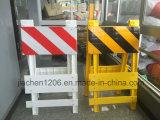 Barricada de dobramento plástica branca/azul do tráfego da segurança de estrada