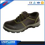 Кожаный стальные ботинки безопасности Ufa016 людей пальца ноги