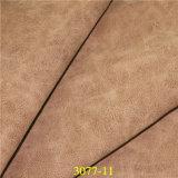 靴のための熱い販売の不規則なLitchiの穀物PUの総合的な革