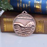 円形のドーナツの形メダルロシアの水泳メダル骨董品のたる製造人メダルはとのGovernmenのためのリボンを通ってくり抜く