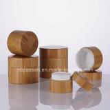 Todos os cosméticos de bambu com jarro de recipiente interior de plástico (PPC vaso-BS-040)