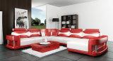 Il sofà di cuoio rosso del nuovo di arrivo salone della casa ha impostato (HC1000)