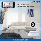 Appareil-photo de rail automatique neuf d'IP de WiFi de 360 degrés pour la garantie à la maison
