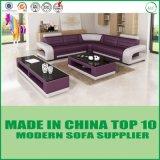Домашний отдых l софа мебели кожи угла формы