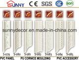 Corniche de moulage d'unité centrale de constructeur de polyuréthane de la Chine moulant pour la décoration à la maison