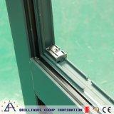 Ventana esmaltada doble de la aleación de aluminio