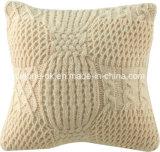 Acryl des Knit-Wolljacke-dekoratives Sofathrow-Kissen-Kissen-Deckel-100%