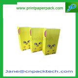 Sac de papier estampé personnalisé de poissons de maïs de bruit de sac de confiserie mignonne de sucrerie
