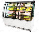 Vitrina de bolo refrigerado comercial / Show de bolo Exposição de supermercado Congelador