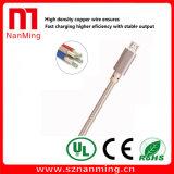 Микро- кабель с оплеткой ткани Sync поручать и данным по USB для Android