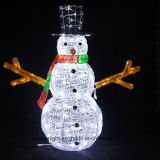 Preciosa y alta decoración impermeable de Navidad de alta calidad LED Snowman luz