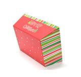 Rectángulo de almacenaje del papel casero del diseño de la Navidad sin la maneta