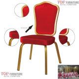 Hôtel 5 étoiles Banquet en aluminium en acier chaise à bascule flexible en acier