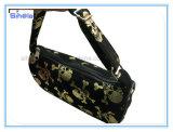 포일 금 두개골 인쇄 소녀의 작은 핸드백