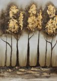 Het verbazende Kleurrijke Olieverfschilderij van de Kunst van de Muur met Geschilderd Goud