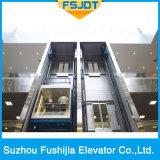 Fushijia 상표에서 전체가 다 보이는 관광 유리를 가진 저잡음 Panoranic 엘리베이터 상승