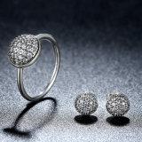 Gocciolina autentica di abbagliamento dell'argento sterlina 925 di 100%, insieme libero dei monili dell'argento di modo delle donne degli anelli della CZ