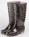 Чили высокого качества на рынке прозрачных резиновая подошва леди дождя ботинки