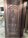 Puerta elegante del cobre de la seguridad de la entrada