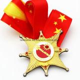 La medalla más nueva del metal de la aduana 3D con la cinta modificada para requisitos particulares