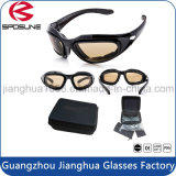Les glaces protectrices à haute impression de tir refroidissent des lunettes avec les lunettes de soleil dures de mousse de cas pour les lunettes de soleil militaires de sûreté d'inducteur