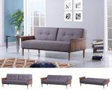 Самомоднейшая кровать софы ткани Nodric деревянная для домашней живущий комнаты (HC109)