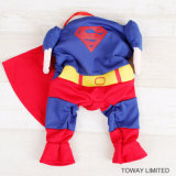 Design Dog Products Super Man Dog Cosplay Vêtements pour animaux de compagnie