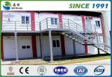 Casa prefabricada de la estructura de acero del bajo costo