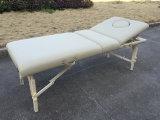 Mesa de massagem portátil de faia branca com apoio traseiro ajustável Mt-009-2W