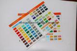 Couleurs promotionnelles Pantone de carte de peinture couleur huile-base