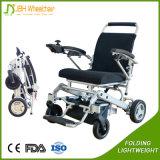 Peso ligero plegable el sillón de ruedas eléctrico del mecanismo impulsor de 4 ruedas