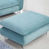 Sofá secional de design moderno com tampa de tecido de impressão de alta qualidade para quarto de quarto de hotel Mobiliário-Fb1105