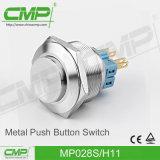 CMP 28mm Zelfsluitende 2no2nc maakt de Schakelaar van de Drukknop waterdicht