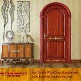 Luxus schnitzte runde Oberseite-Holz gewölbte Eintrag-Tür (GSP2-038)