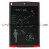 Howshow tablette effaçable d'écriture d'affichage à cristaux liquides de tampon de mémoire de 12 Digitals de pouce