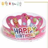 Fiesta de cumpleaños de encargo de la corona de papel promocionales personalizados impresión embroma el sombrero