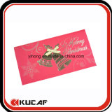 Custom Printing Pretty Hot Stamping Christmas Greeting Card
