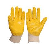 석유화학 내부고정기 강선 니트릴에 의하여 입히는 니트 손목 장갑