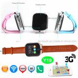 reloj del perseguidor del GPS de los adultos de 3G WiFi con el botón el SOS