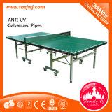 Mesa de ping-pong popular en el exterior de tenis de mesa plegable con ruedas