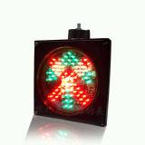 El tráfico de 200mm flecha verde de la Cruz Roja de la luz de la señal de lavado de coches